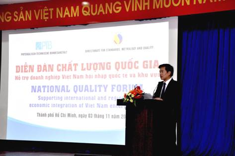"""National Quality forum 2017 """"Supportting Vietnamese enterprises in international and regional integration"""